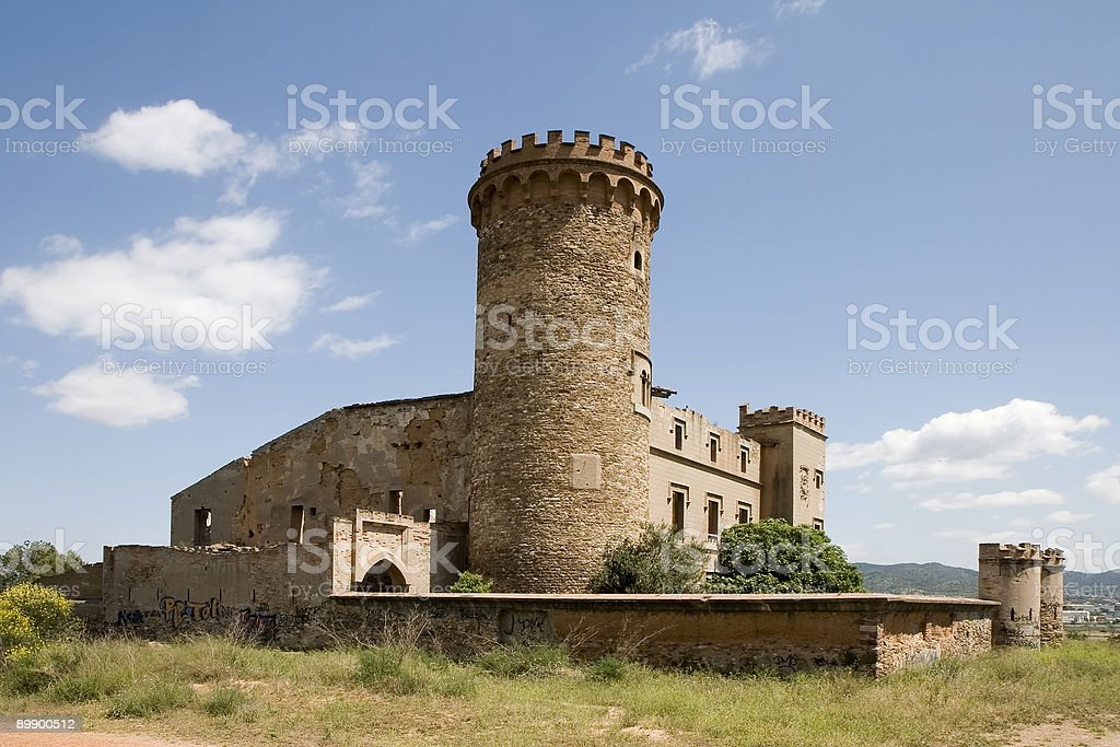 Salvana Tower in Catalonia royalty-free stock photo