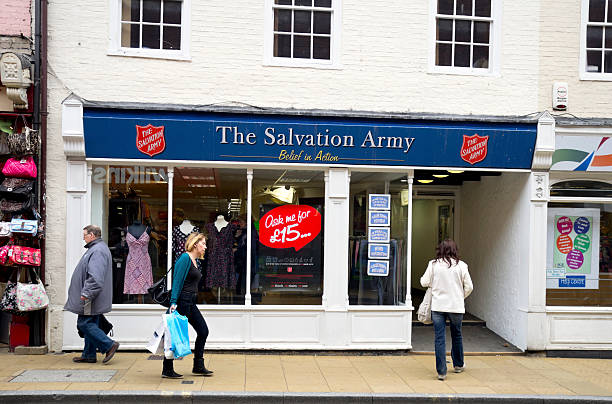Salvation Army charity shop, Ipswich stock photo