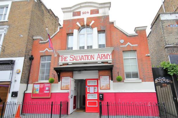 Salvation Army charity shop London UK stock photo