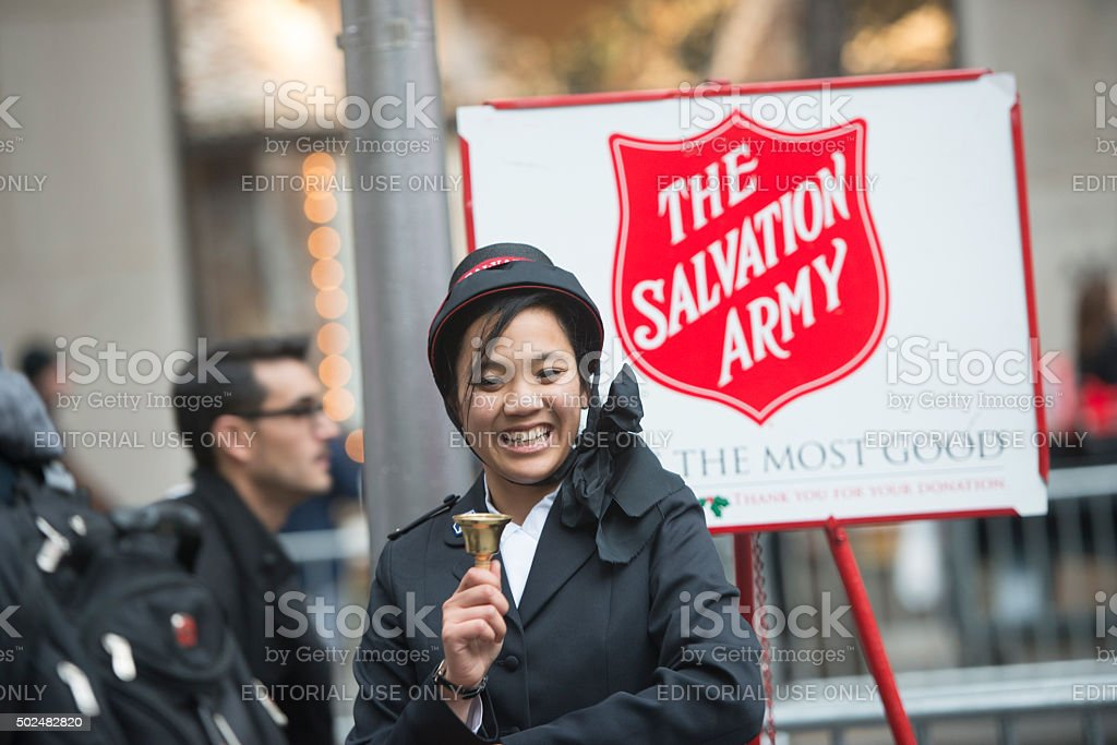 Salvation Army Collection Crew stock photo