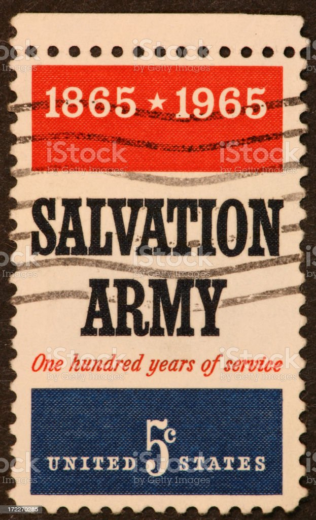 Salvation Army stamp 1965 royalty-free stock photo