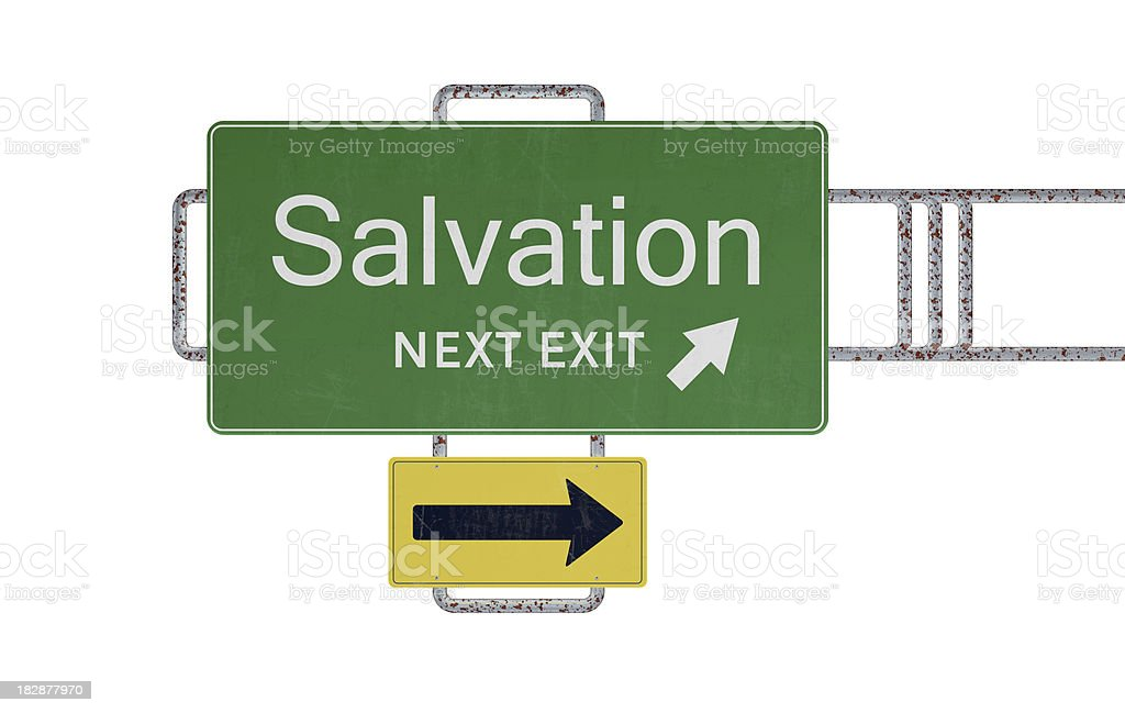 Salvation road sign royalty-free stock photo