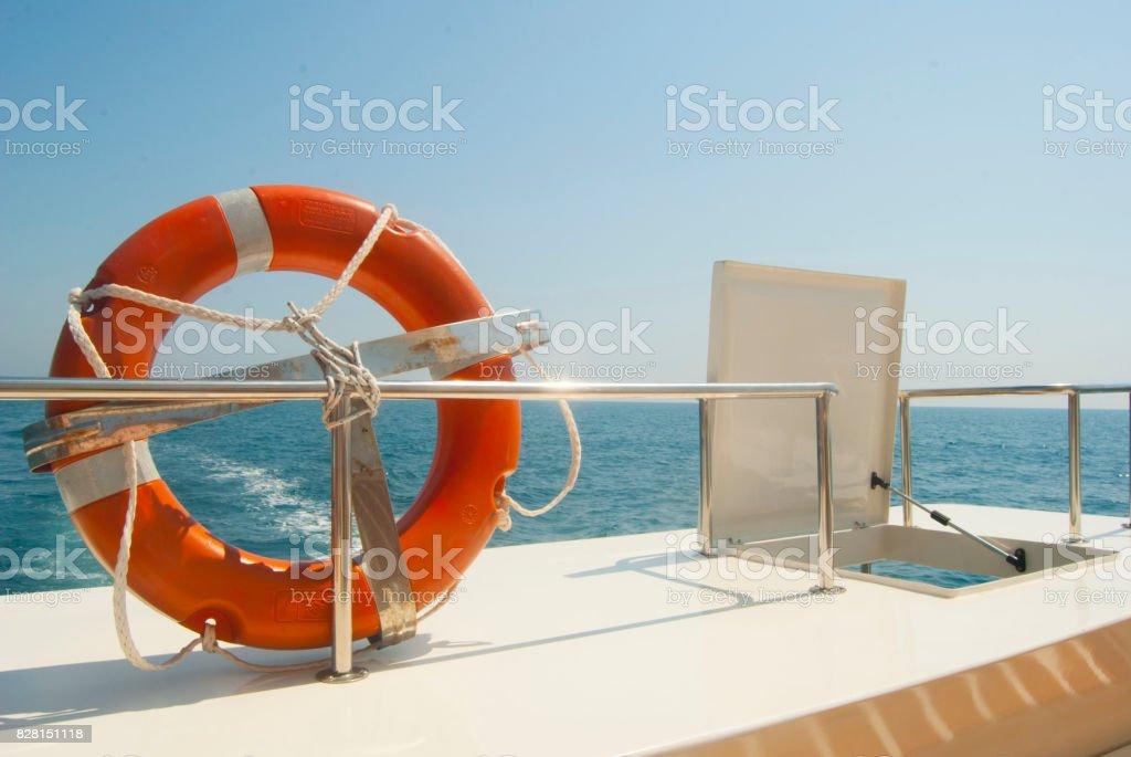 Salvavidas marítimo stock photo