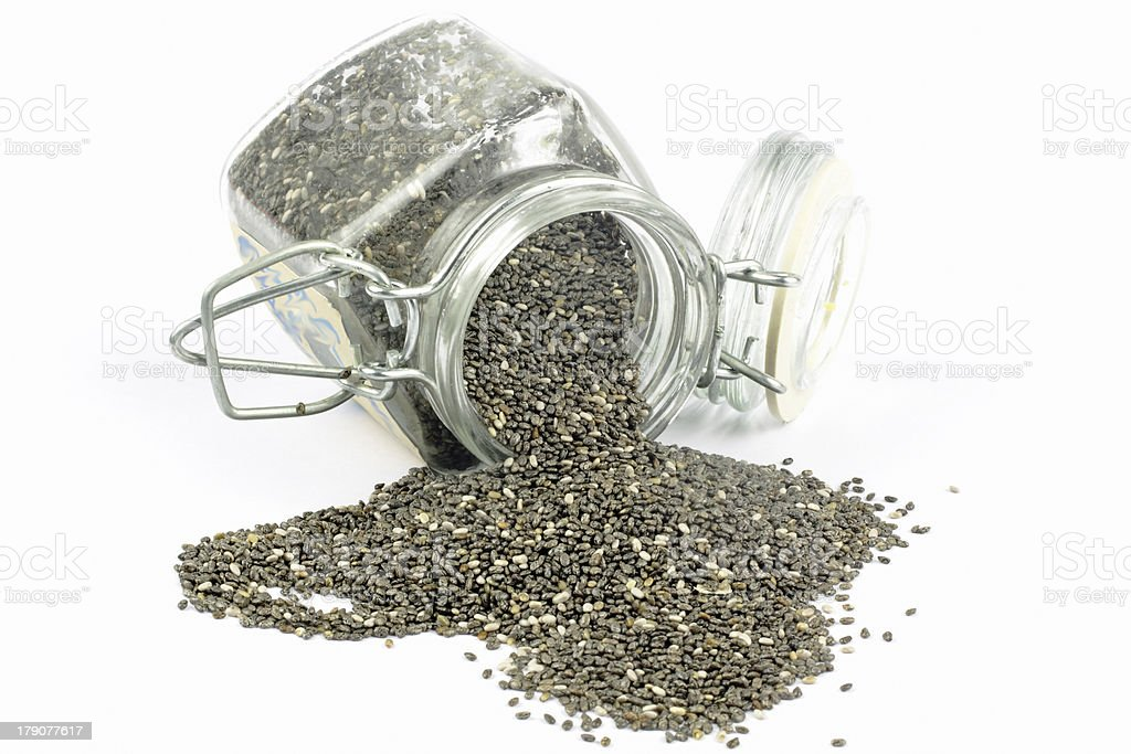 Salvia hispanica chia seeds royalty-free stock photo