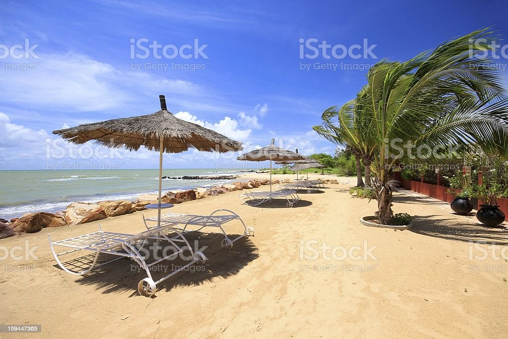Saly's beach in Senegal stock photo
