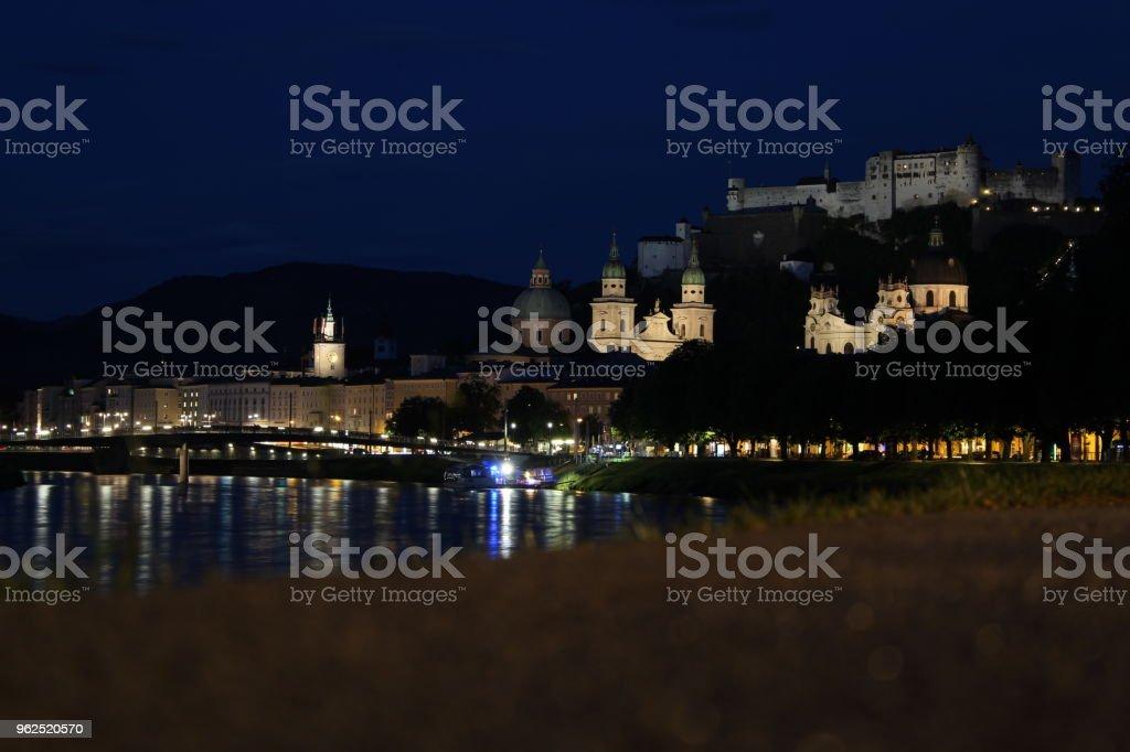 Salzburg at night - Royalty-free Austria Stock Photo