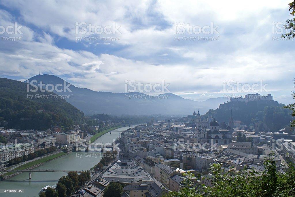 Salzburg Austria - City in the Sky royalty-free stock photo