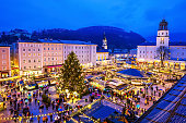 Salzburg, Austria. Christmas Market in the old town.