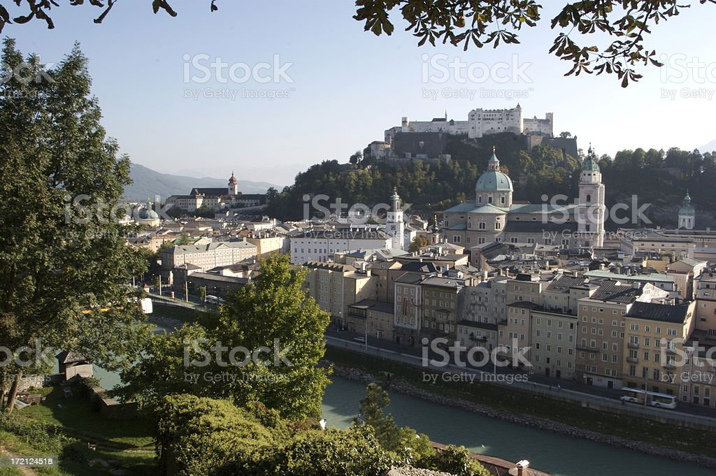 Salzburg Austria With Fortress On the Hill royalty-free stock photo