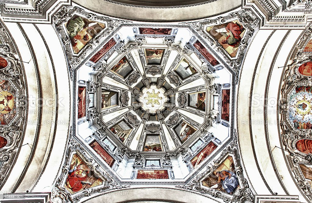 Salzburg Cathedral Dome royalty-free stock photo