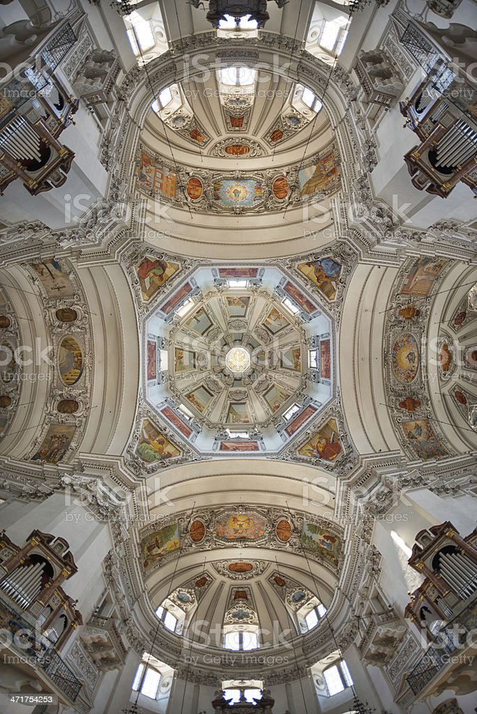 Salzburg Cathedral, Salzburger Dom, Austria stock photo
