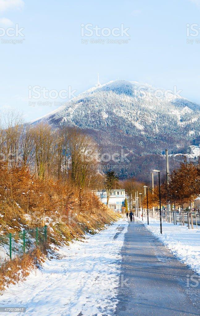 salzburg city stock photo