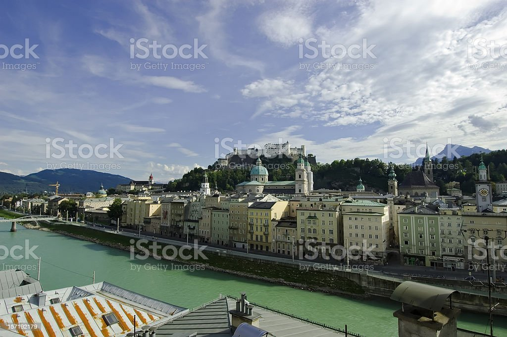 Salzburg cityscape royalty-free stock photo