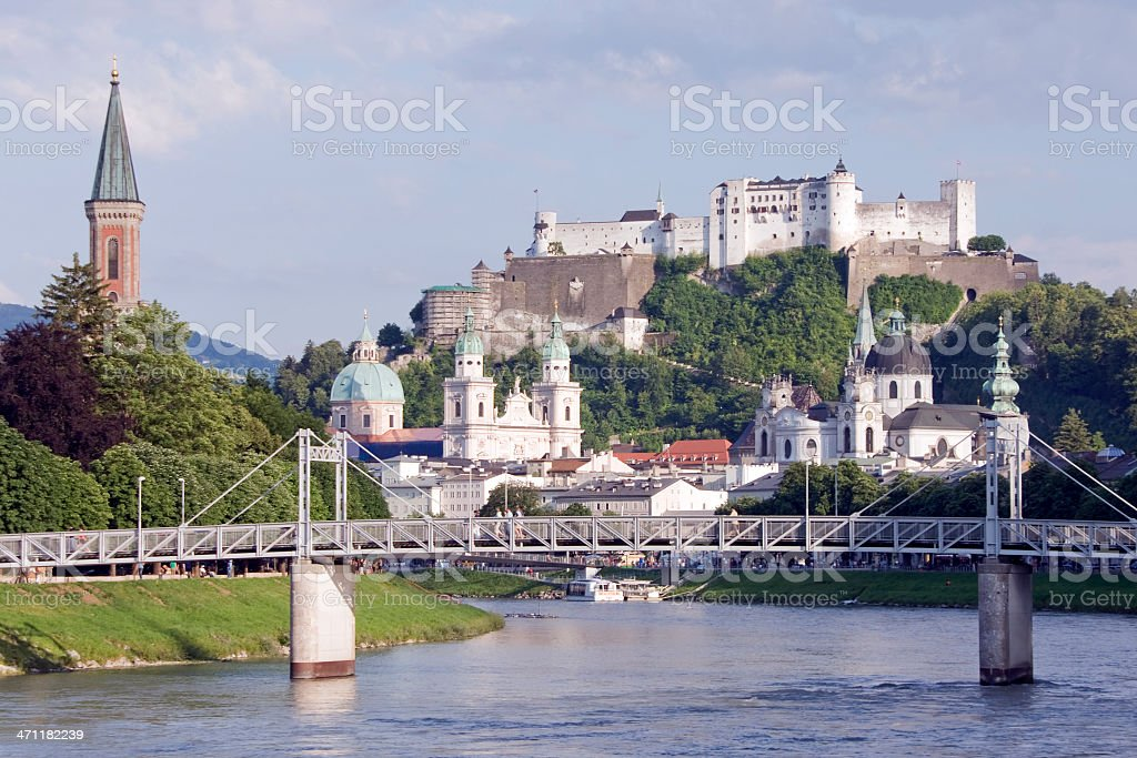 Salzburg Historic Old Town royalty-free stock photo