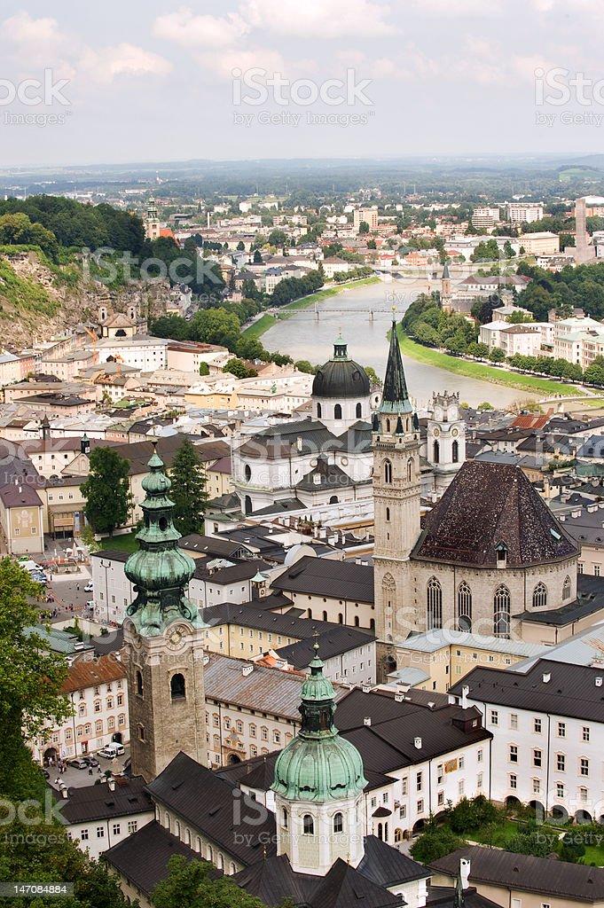 Salzburg panorama royalty-free stock photo