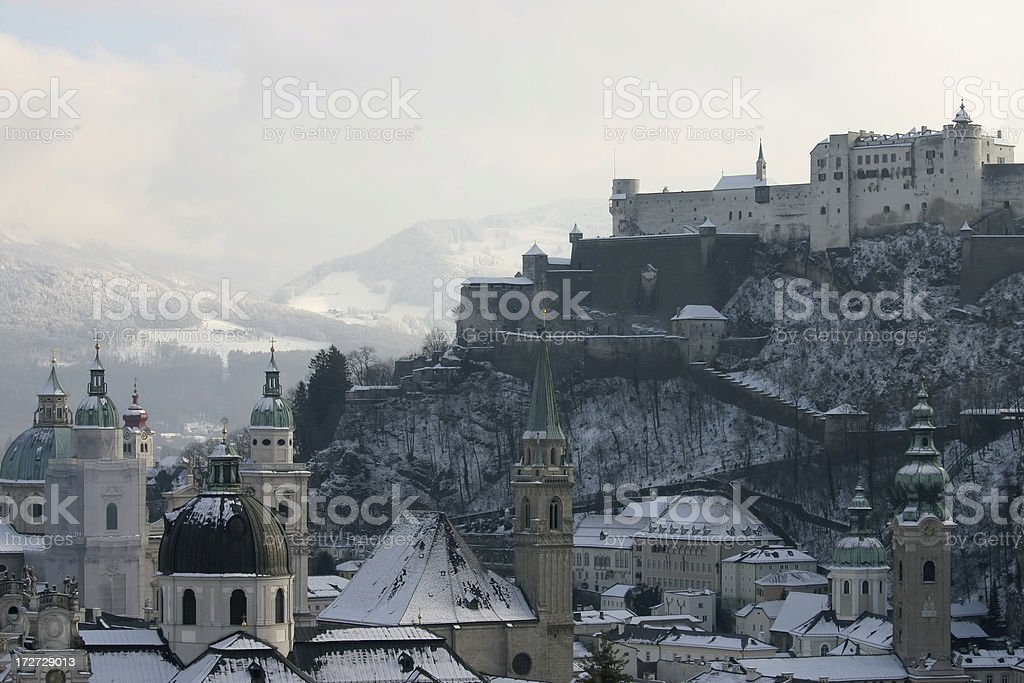 Salzburg View to Hohensalzburg Castle royalty-free stock photo