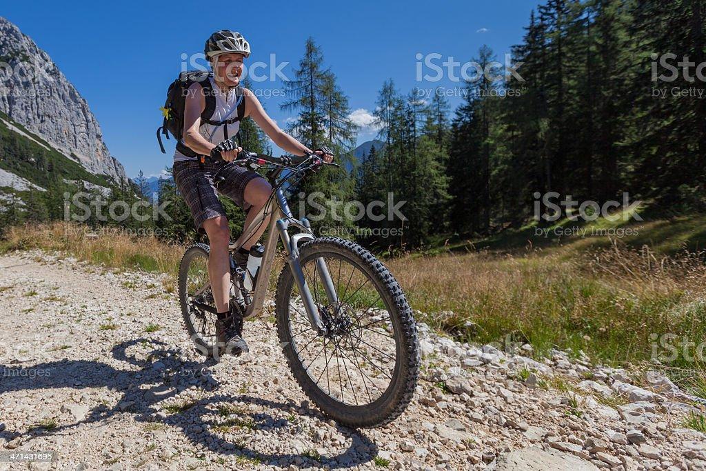 Salzkammergut biking stock photo