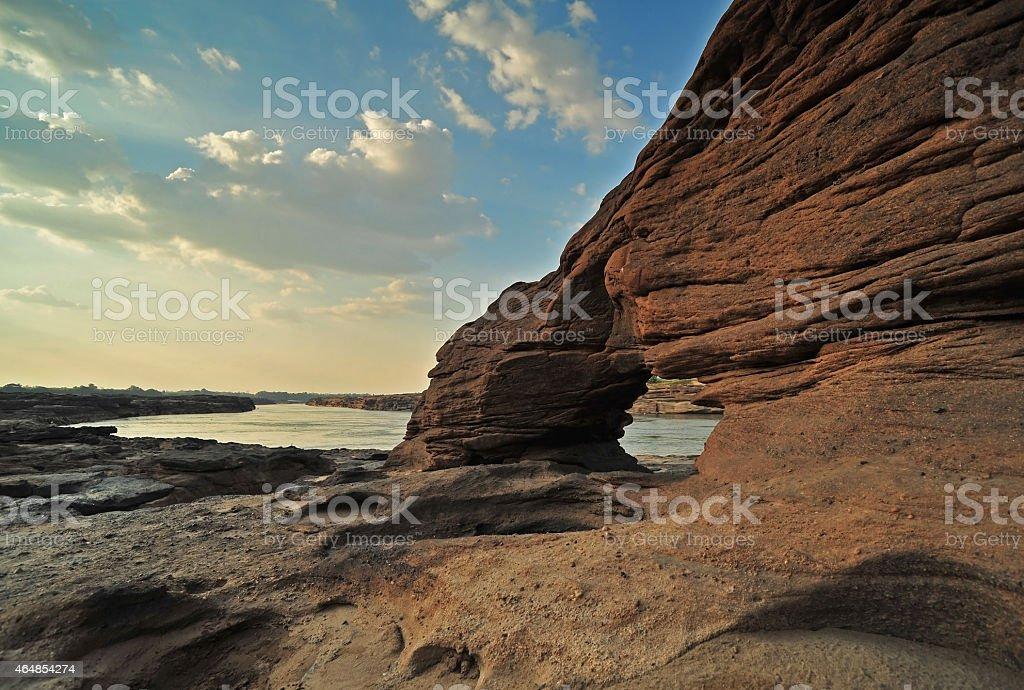 Sam Pan Bok - Amazing canyon scape stock photo
