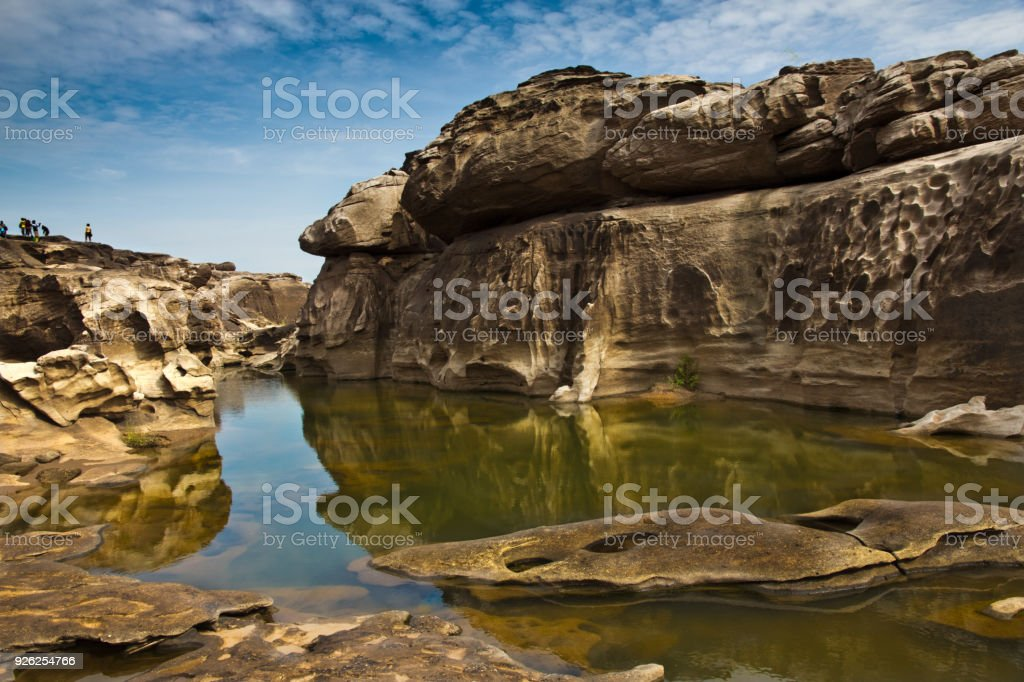 Sam Phan Bok the grand canyon of Thailand stock photo