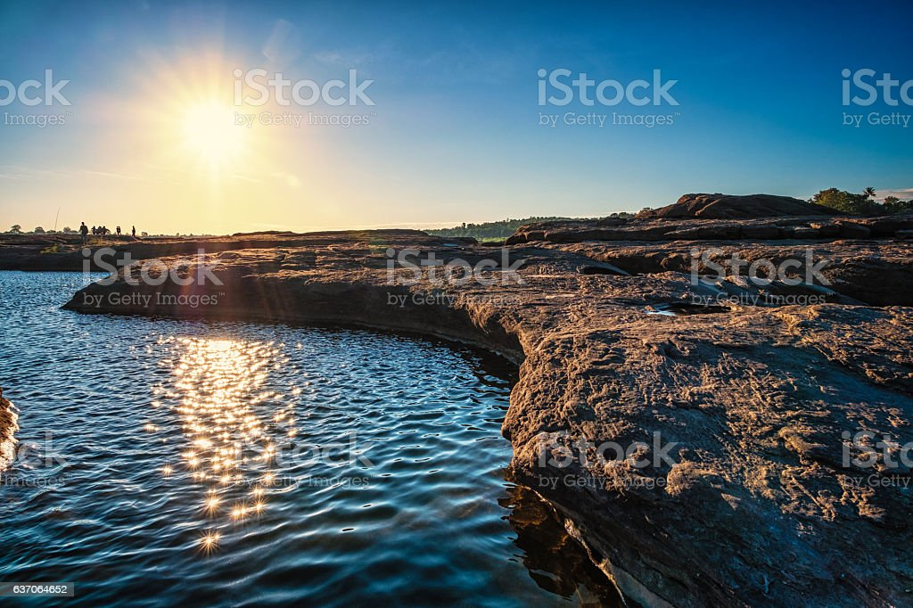 Sam Phan Bok, Ubon Ratchathani, Thailand. stock photo