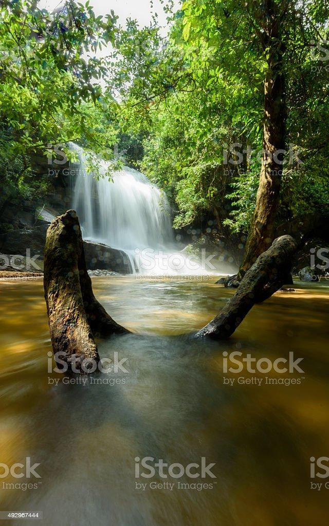 Sam Rong Kead Waterfall Sisaket Thailand stock photo