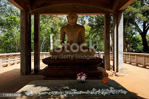 Samadhi Buddha statue in Anuradhapura. Sri Lanka.