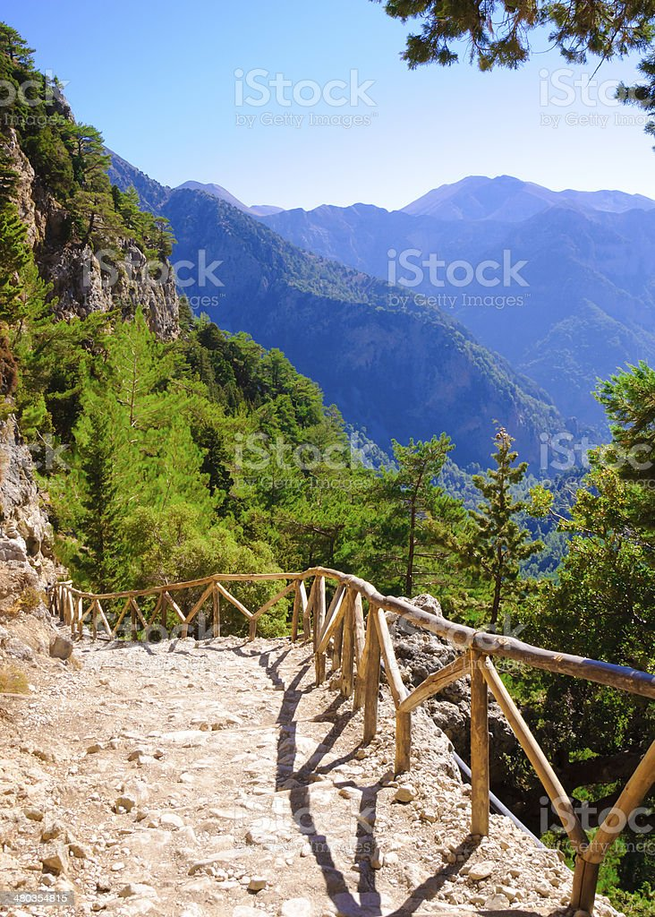 Samariá Gorge, island of Crete, Greece stock photo