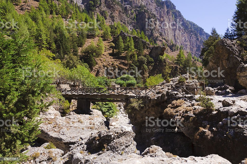 Samaria Gorge, island of Crete, Greece stock photo