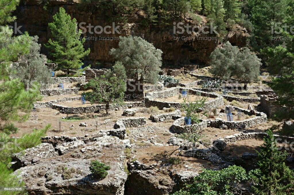 Samaria Gorge, UNESCO Biosphere Reserve, Crete, Greece stock photo