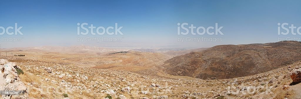 Samaria, Israel. Panorama. royalty-free stock photo