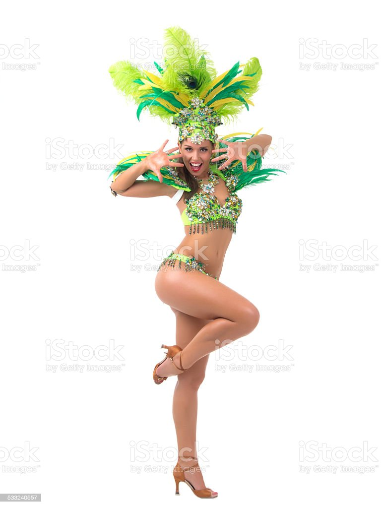 Samba dancer stock photo