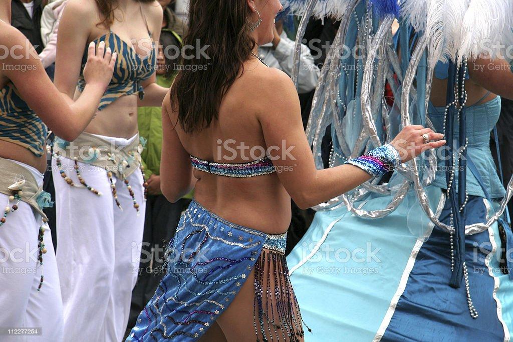 Samba dancers - amazing costume royalty-free stock photo