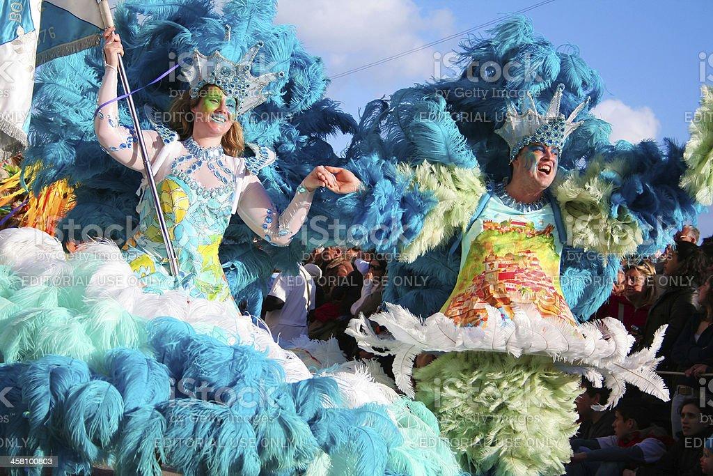 Samba Dancers in the brazilian carnival stock photo