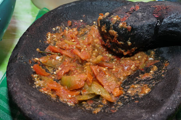 Sambal Terasi / Terasi Sauce Creative Image sambal stock pictures, royalty-free photos & images