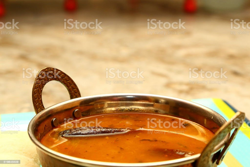 sambar Iddli is a traditional breakfast of South Indian cuisine. stock photo