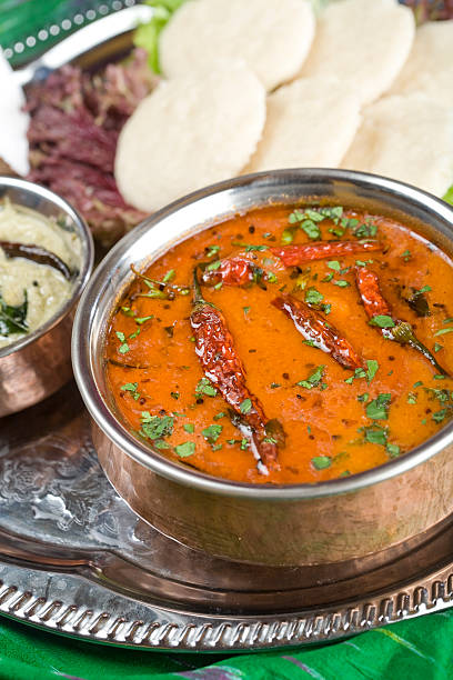 Sambaar, Linse Gericht. Indische food – Foto
