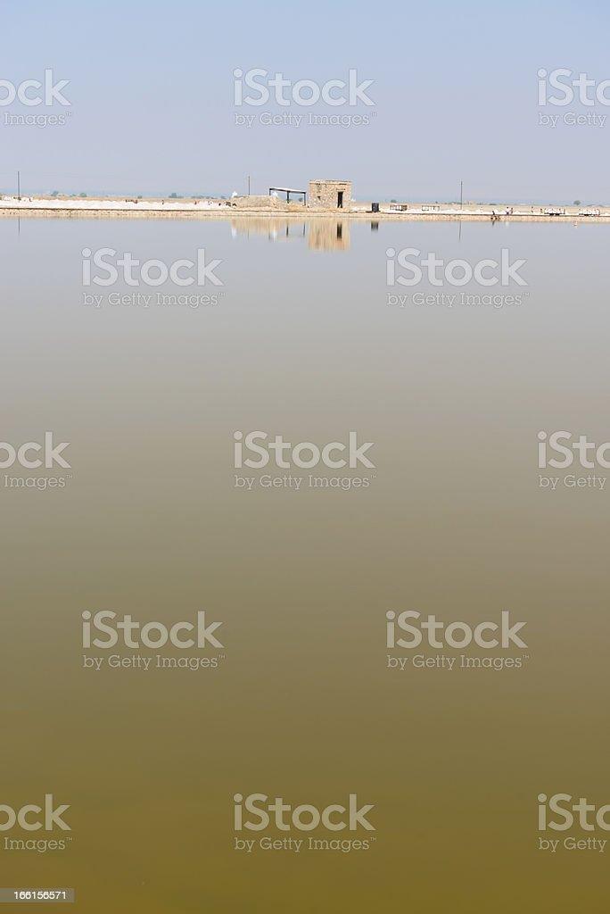 Sambhar Salt Lake, India royalty-free stock photo
