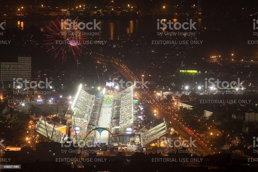 Sambodromo in Rio de Janeiro - Carnival royalty-free stock photo