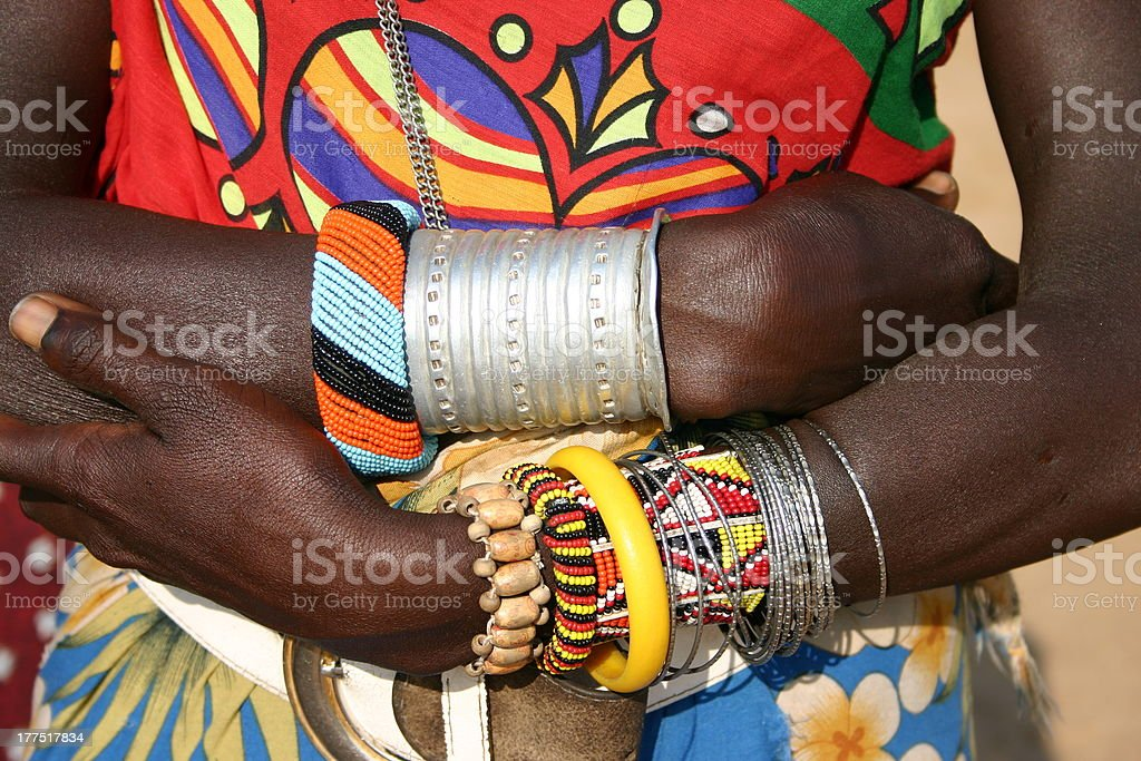 Samburu Fashion, Jewellery and Seed Beads, Kenya, Africa stock photo