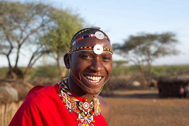 Samburu Warrior stock photo