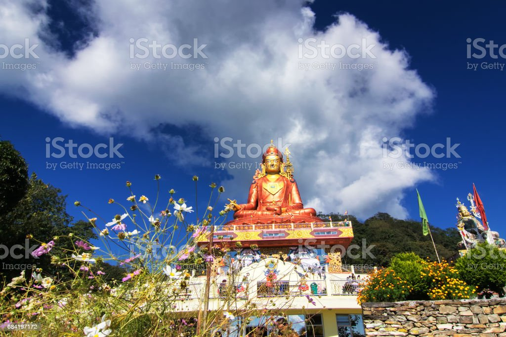 Samdruptse staue , Sikkim, India royalty-free stock photo