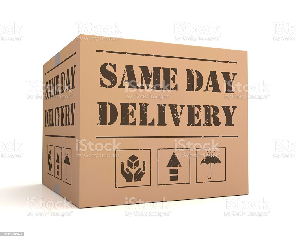 same day delivery stock photo