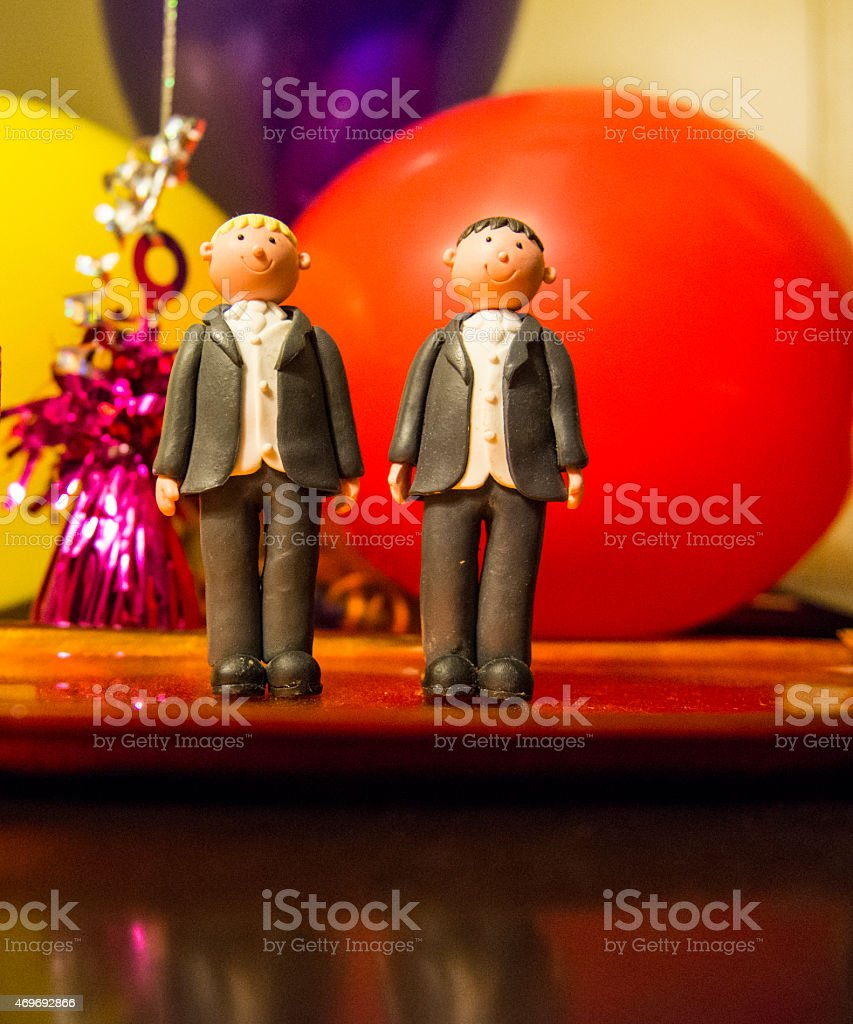 Same sex cake toppers royalty-free stock photo