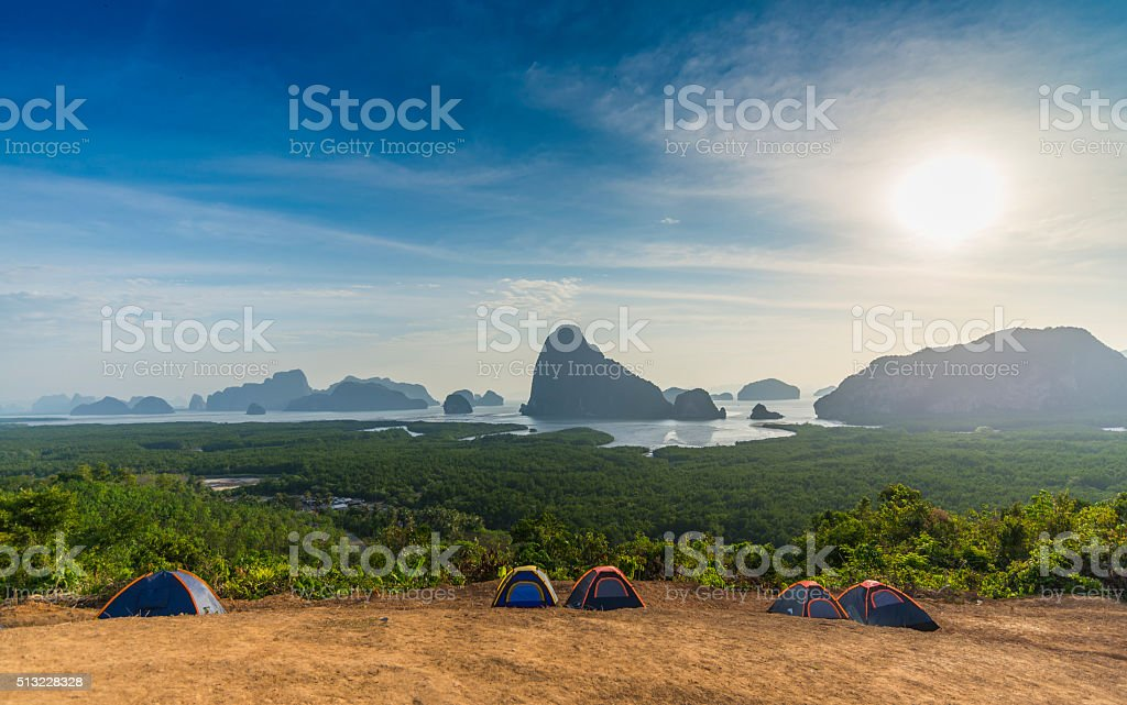 Samet nang she ,Phang Nga Bay, Thailand stock photo
