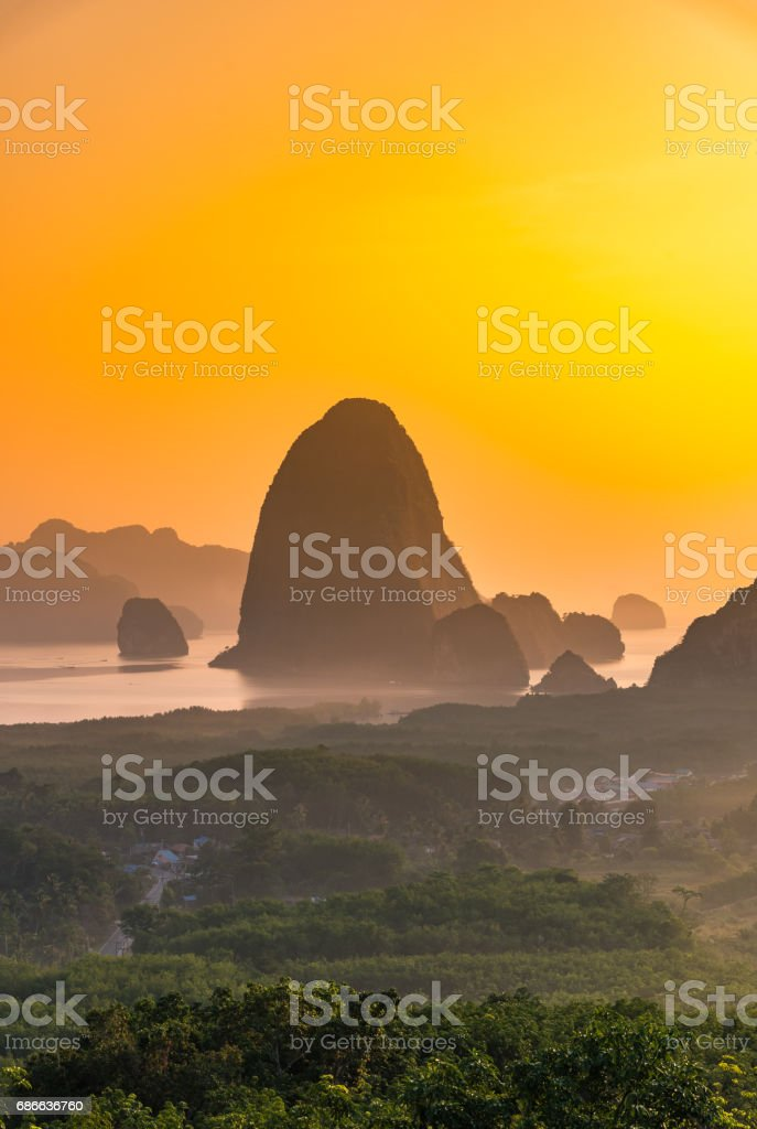Sa-met-nang-shee, New landmark is the most famous point of view in Phang Nga province,Thailand royalty-free stock photo