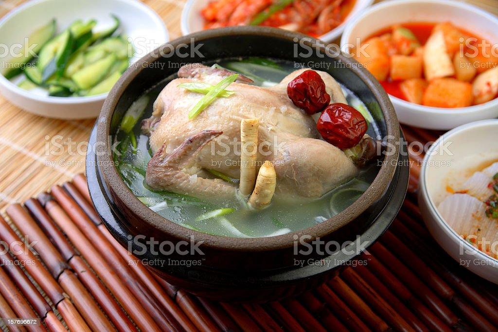 Samgyetang royalty-free stock photo