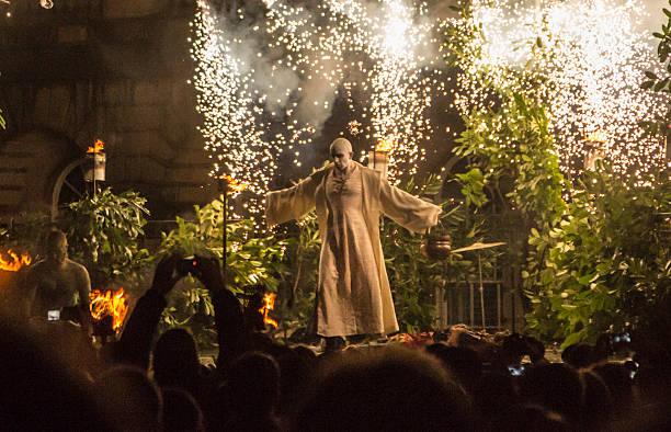 Samhuinn Fire Festival, Edinburgh stock photo