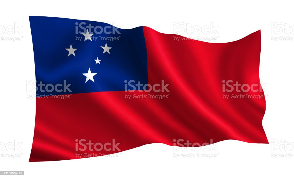 Samoa flag. A series of 'Flags of the world.'  ( The country - Samoa flag ) stock photo
