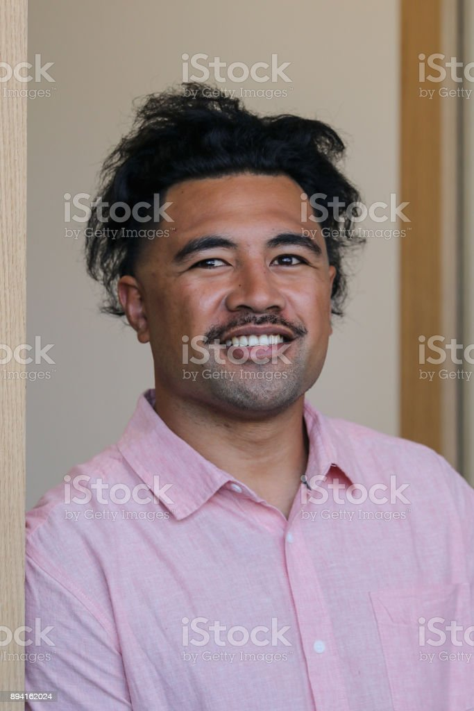 Samoan Business Man stock photo