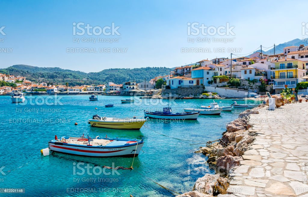 Samos Island, Greece stock photo